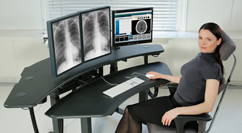radiology ergonomic desk