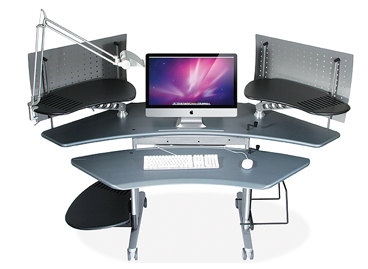 ergonomic adjustable desks add ons lighting storage extensions