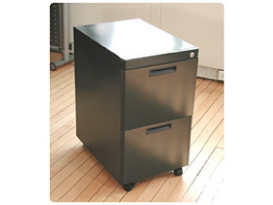 Mobile Steel Filing Cabinet (2 Drawers)