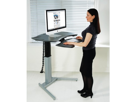 motorized adjustable computer desk
