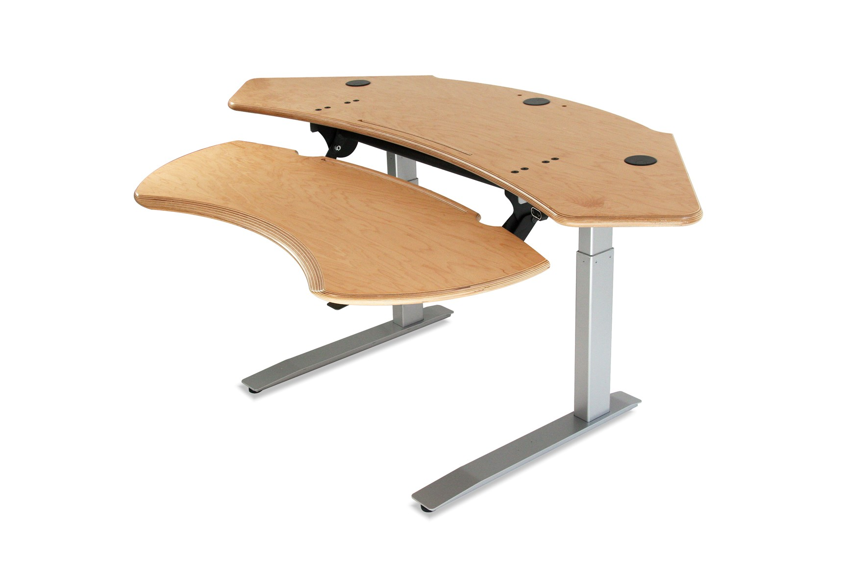 Dual Surface Flexo Standing Desk with Motorized or Crank