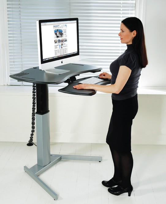 Motorized xo2 el standing desk with single or dual surface for Standing desk at home