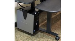 Leg Mounted CPU Holder for Plus, Flexo EL & Maxo EL Desks