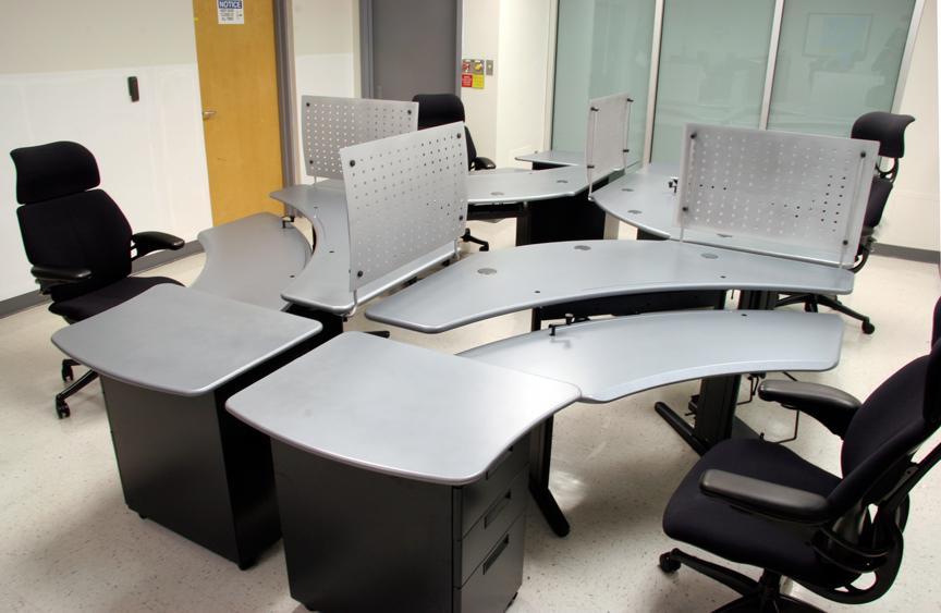 Personal Desks, Gunmetal, in quad - Click here to view product page