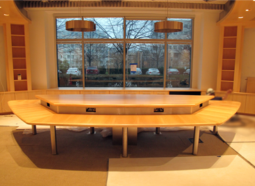 Custom-built Conference Table and Built-in Cabinets