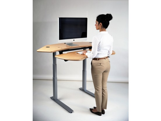 Groovy Dual Surface Flexo Standing Desk With Motorized Or Crank Download Free Architecture Designs Grimeyleaguecom