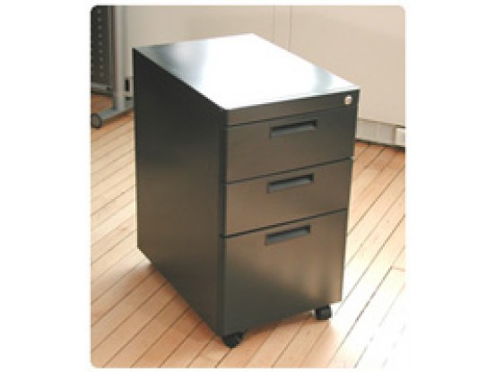 Genial Mobile Steel Filing Cabinet (3 Drawers)