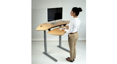 Flexo Corner Standing Desk, Maple