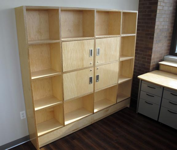 "Custom Bookcase in Maple Plywood, 72""Hx60""W"