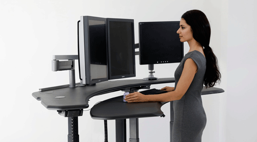 Cutting-edge ergonomic furniture solutions for radiology government and multi-media Professionals  sc 1 th 167 & Ergonomic Desk and Ergonomic Furniture Ergonomic Standing Desks ...